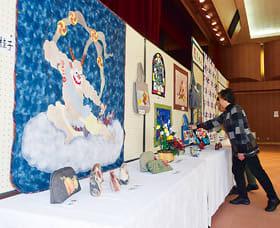 利用団体の活動内容などを紹介している市民会館サークル展