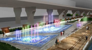 Artist rendering of the proposed music fountain. Photo: LegCo.