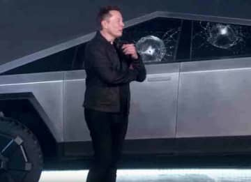 Tesla's 'Bulletproof' Cybertruck Fails When Windows Shatters At Tesla Event In Front Of Elon Musk