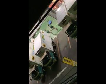 拡散されたヤマト営業所の動画より(関係者提供、画像一部加工、動画元データのまま掲載)