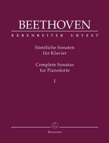 写真はベートーヴェン・ピアノ作品の原典版楽譜(ベーレンライター社)