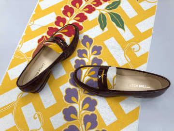 神戸・長田の靴づくりの技術と京都の西陣織をコラボレーションした革靴