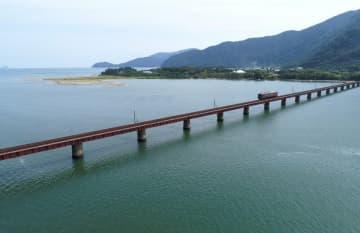 【資料写真】京都丹後鉄道の由良川橋りょう
