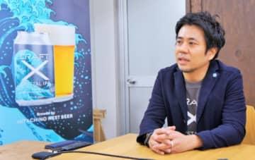 「CRAFT X Project」の説明をする長谷川晋CEO。