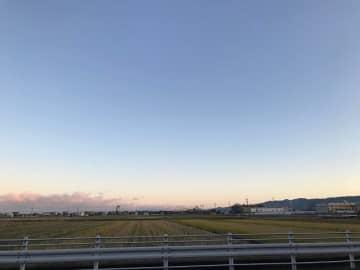 11月29日朝の福井県福井市の空