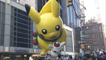 NY感謝祭パレードにピカチュウ登場 草間彌生さんのバルーンも登場のはずが... 画像