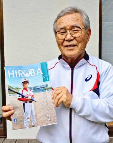 古希・還暦野球大会の最高齢出場者で「気持ちは20代」と話す高良孝誠さん=19日、名護市古我知