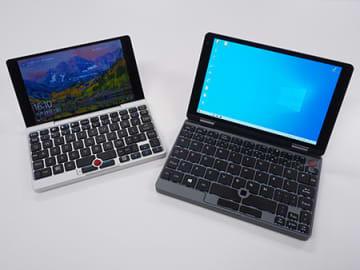 7インチの「GPD Pocket」と8インチの「CHUWIのMiniBook」。7インチだとやや小さすぎた感はあった