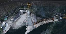 あらゆる角度から撮影された写真を組み合わせて生野銀山の外観を立体的に再構築する(ハコスコ提供)
