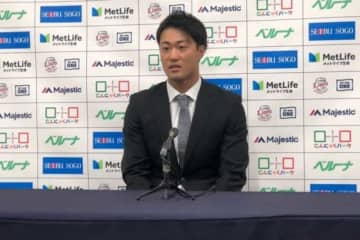 契約更改に臨んだ西武・戸川大輔【写真:安藤かなみ】