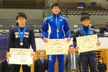 <レスリング>【写真集】2019年東日本学生秋季選手権/男子フリースタイル・表彰式