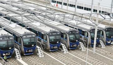 MRT南北線ルバックブルス駅の車庫=ジャカルタ(NNA撮影)