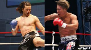 12月のK-1名古屋大会で対戦する加藤(左)とK-Jee(右)