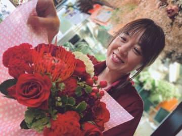嶋田紅秋さんのエプソン特別賞受賞作品「笑顔になれる花束」