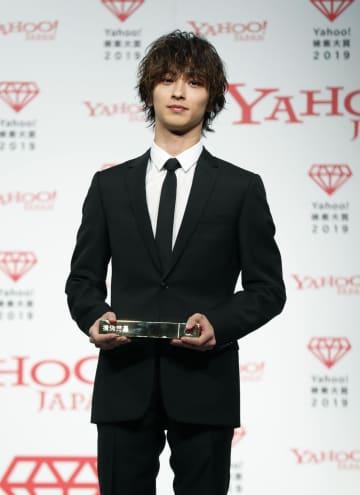 「Yahoo!検索大賞2019」で大賞を受賞した俳優の横浜流星さん=4日午前、東京都港区