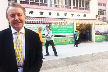 Lord Alton of Liverpool in Hong Kong. Photo: Lord Alton of Liverpool.