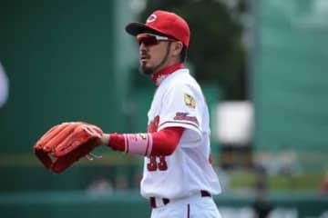MLB挑戦を表明している広島・菊池涼介【写真:荒川祐史】