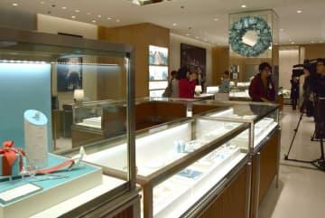 4日にジェイアール京都伊勢丹にオープンする「ティファニー」の店舗(京都市下京区)