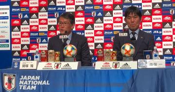 (写真左から)関塚技術委員長 森保監督