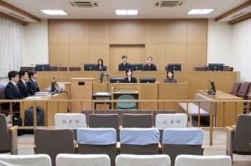 女児殺害事件の小林遼被告に無期懲役の判決が言い渡された新潟地裁=4日、新潟市中央区