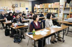 参加者たちがブックスタートについて学んだ研修会