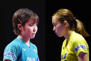 平野美宇、石川佳純 Photo:Itaru Chiba