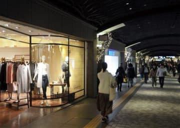 2020年から休業日を年3日に増やす天神地下街=4日、福岡市