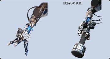 さまざまな形状を把持する可変剛性機構付き3本指ロボットハンドを開発