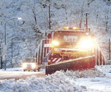 除雪トラック出動