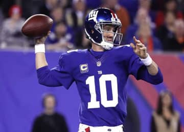 Eli Manning Throws 3 TDs, Giants Beat Bengals 21-20