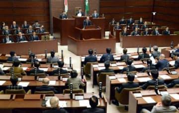 3日に開会した広島市議会。6、9、10日に一般質問がある