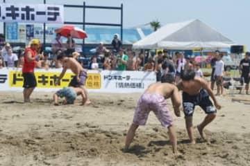 いずれオリンピックで実施されるか、ビーチ・レスリング=2018年全日本ビーチ大会