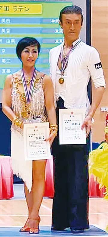 シニアIII優勝時の表彰式
