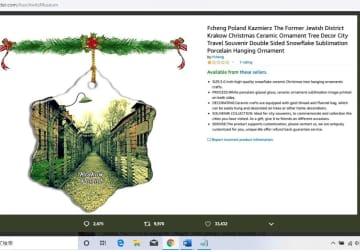 アマゾン、「アウシュビッツ」「原爆ドーム」のクリスマス飾り販売…海外で反発広がる 画像