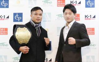 ゴンナパー(左)が父の他界から久々のリング。連続KO勝利中の横山巧(右)と対戦する