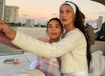 Kendall Jenner & Bella Hadid Travel By Yacht In Miami For Art Basel