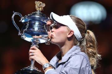 2018年「全豪オープン」で優勝したウォズニアッキ