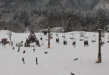 営業を始めたハチ高原スキー場