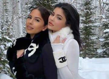 Kylie Jenner Looks Sexy In White Bodysuit Skiing With Pal Yris Palmer
