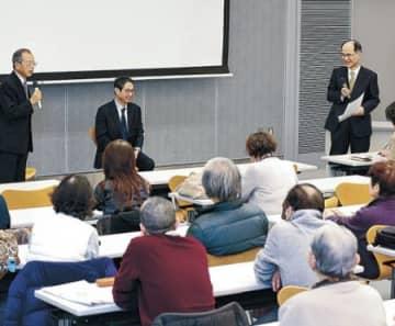 「100年人生」こつ伝授 ハート健康プロジェクト 河合氏、富田氏が講演