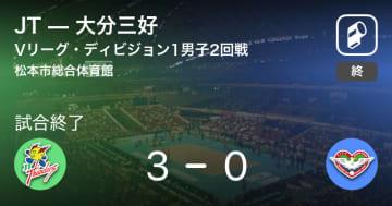 【Vリーグ・ディビジョン1男子2回戦】JTが大分三好にストレート勝ち