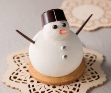 心が和む、見た目もキュートな雪だるまケーキが登場 画像