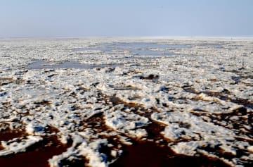内モンゴル自治区で黄河の凍結を観測