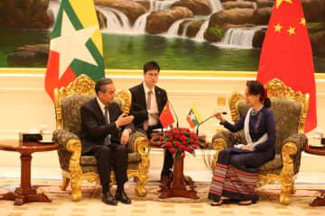 王毅氏、ミャンマー国家顧問兼外相と会談 「一帯一路」共同建設の推進で一致