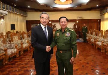 王毅氏、ミャンマー軍最高司令官と会見 国境地帯の平和と安定の維持で一致