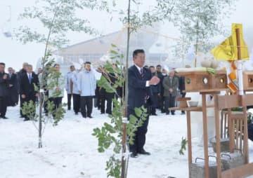 開業中の無事故などを願った五ケ瀬ハイランドスキー場の安全祈願祭