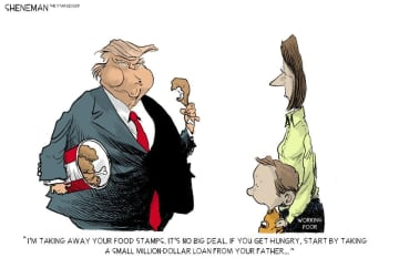 So, we're taking people's food stamps now | Sheneman Opinion