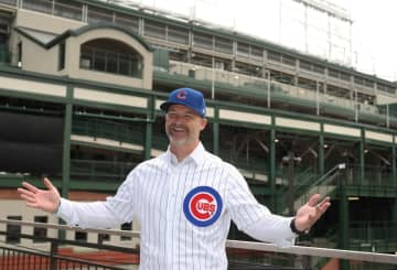 New Cubs manager David Ross at Wrigley Field on Oct. 28, 2019. - John J. Kim/Chicago Tribune/TNS