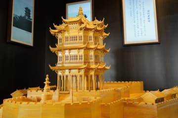 宋代と清代の黄鶴楼、精巧な模型で再現 湖北省