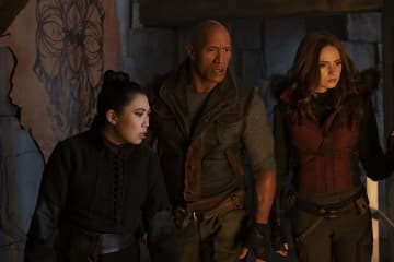 Awkwafina,Dwayne Johnson, and Karen Gillan in Jumanji: The Next Level - Frank Masi/Sony Pictures/IMDb/TNS